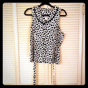 👗NEW👗EUC VTG cow print vest with tie back detail